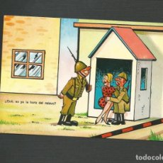 Postales: POSTAL SIN CIRCULAR - DIBUJO MILITAR - EDITA VIRGEN DEL MAR - ALMERIA. Lote 134360254