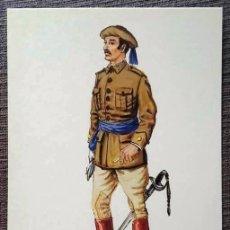 Postales: POSTAL UNIFORMES MILITARES. COMANDANTE DEL CUERPO DE E.M. GALA 1927. Lote 135805922