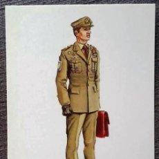 Postales: POSTAL UNIFORMES MILITARES. TENIENTE CORONEL DEL S. E. M. PASEO 1986. Lote 135806314