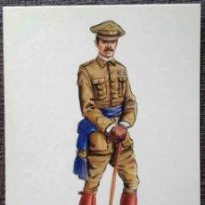 Postales: POSTAL UNIFORMES MILITARES. COMANDANTE DEL CUERPO DE E.M. DIARIO 1931. Lote 135807774