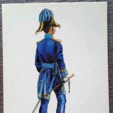 Postales: POSTAL UNIFORMES MILITARES. TENIENTE CORONEL DEL CUERPO DE E.M. GALA 1838. Lote 135808106