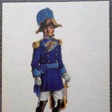 Postales: POSTAL UNIFORMES MILITARES. SEGUNDO AYUDANTE DEL CUERPO DE E.M. GALA 1810. Lote 135808450