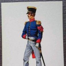 Postales: POSTAL UNIFORMES MILITARES. ADICTO AL EJÉRCITO DE OBSERVACIÓN DE LOS PIRINEOS 1815. Lote 135808866