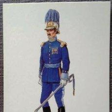 Postales: POSTAL UNIFORMES MILITARES. CAPITÁN DEL CUERPO DE E.M. GALA 1908. Lote 135809426