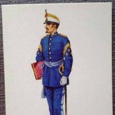 Postales: POSTAL UNIFORMES MILITARES. CAPITÁN DEL CUERPO DE E.M. GDIARIO A PIE 1869. Lote 135811586