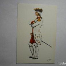 Postales: POSTAL MILITAR.-ESPAÑA REGIMIENTO DEL REY 1. Lote 136004566