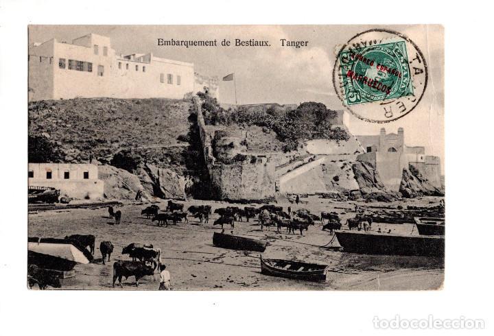 TÁNGER 'EMBARQUEMENT DE BESTIAUX'. NAHON&LASRY. (Postales - Postales Temáticas - Militares)
