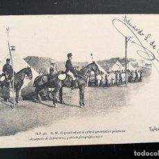 Postales: POSTAL DE LA ACADEMIA DE INFANTERIA GABINETE FOTOGRAFICO 1911 - 48 - S.M. DISPONIENDOSE A SALIR A PR. Lote 138656950
