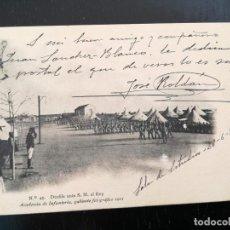 Postales: POSTAL DE LA ACADEMIA DE INFANTERIA GABINETE FOTOGRAFICO 1911 - 45 - DESFILE ANTE S.M. EL REY - 5188. Lote 138657714