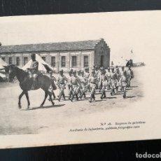 Postales: TOLEDO - POSTAL DE LA ACADEMIA DE INFANTERIA GABINETE FOTOGRAFICO 1911 - 28 - REGRESO DE PRACTICAS -. Lote 138659566
