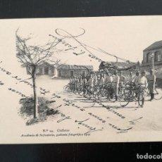Postales: TOLEDO - POSTAL DE LA ACADEMIA DE INFANTERIA GABINETE FOTOGRAFICO 1911 - 24 - CICLISTAS - 5188 4 CIA. Lote 138660814
