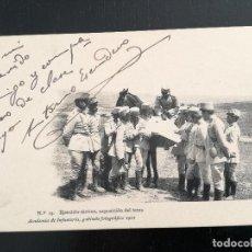 Postales: TOLEDO - POSTAL DE LA ACADEMIA DE INFANTERIA GABINETE FOTOGRAFICO 1911 - 19 - EJERCITO TACTICO EXPOS. Lote 138661710