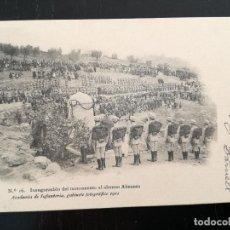 Postales: TOLEDO - POSTAL DE LA ACADEMIA DE INFANTERIA GABINETE FOTOGRAFICO 1911 - 16 - INAUGURACION DEL MONUM. Lote 138662230