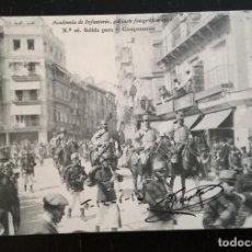 Postales: TOLEDO - POSTAL DE LA ACADEMIA DE INFANTERIA GABINETE FOTOGRAFICO 1912 - 26 - SALIDA PARA EL CAMPAME. Lote 138873942