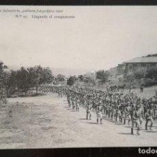 Postales: TOLEDO - POSTAL DE LA ACADEMIA DE INFANTERIA - 1912 - Nº 27 - LLEGANDO AL CAMPAMENTO - 4ª COMPAÑÍA. Lote 138887934