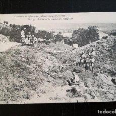 Postales: ACADEMIA DE INFANTERIA - 1912 - Nº 35 - TRABAJOS DE TOPOGRAFIA IRREGULAR - 4ª COMPAÑÍA - MANUEL CAVA. Lote 138904454