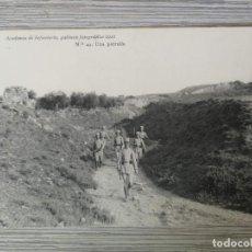 Postales: ACADEMIA DE INFANTERIA - 1912 - Nº 43 - UNA PATRULLA - 4ª COMPAÑÍA - DEDICADA POR RAFAEL LÓPEZ .. - . Lote 138968170