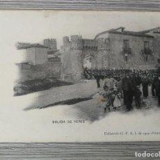 Postales: ANTIGUA Y PRECIOSA POSTAL DE TOLEDO - SALIDA DE YEPES - MILITARES - EPOCA ALFONSO XIII - 1907. Lote 138990754