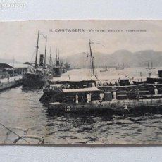 Postales: POSTAL. CARTAGENA - VISTAS DE MUELLE Y TORPEDEROS. CIRCULADA. FECHADA EN 1921.. Lote 139477462