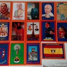 Postales: 14 POSTALES. FRANCO, JOSÉ ANTONIO, FALANGE, LEGIÓN, GUARDIA CIVIL, ESCUDO NACIONAL, BANDERA ESPAÑA... Lote 139503686