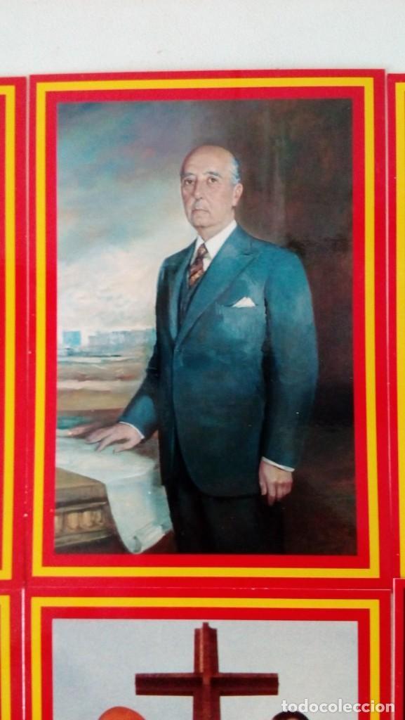 Postales: 14 postales. Franco, José Antonio, Falange, Legión, Guardia Civil, Escudo Nacional, Bandera España.. - Foto 5 - 139503686