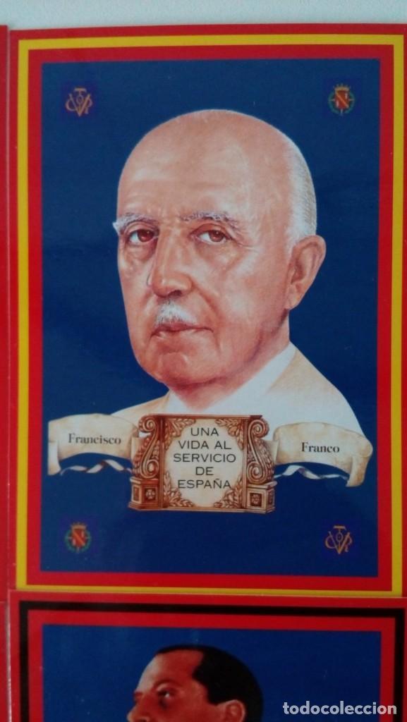 Postales: 14 postales. Franco, José Antonio, Falange, Legión, Guardia Civil, Escudo Nacional, Bandera España.. - Foto 6 - 139503686