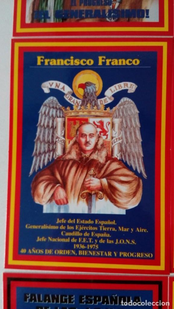 Postales: 14 postales. Franco, José Antonio, Falange, Legión, Guardia Civil, Escudo Nacional, Bandera España.. - Foto 7 - 139503686