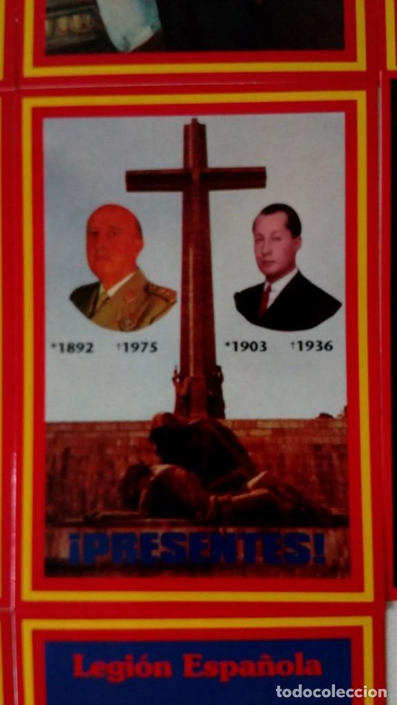 Postales: 14 postales. Franco, José Antonio, Falange, Legión, Guardia Civil, Escudo Nacional, Bandera España.. - Foto 8 - 139503686