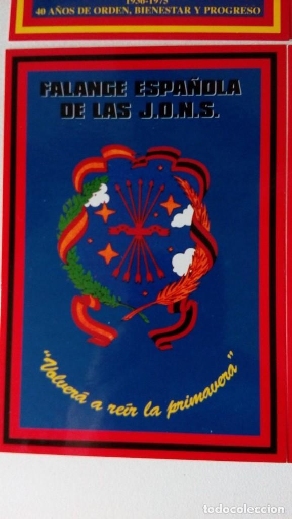 Postales: 14 postales. Franco, José Antonio, Falange, Legión, Guardia Civil, Escudo Nacional, Bandera España.. - Foto 10 - 139503686