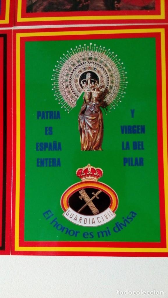 Postales: 14 postales. Franco, José Antonio, Falange, Legión, Guardia Civil, Escudo Nacional, Bandera España.. - Foto 11 - 139503686