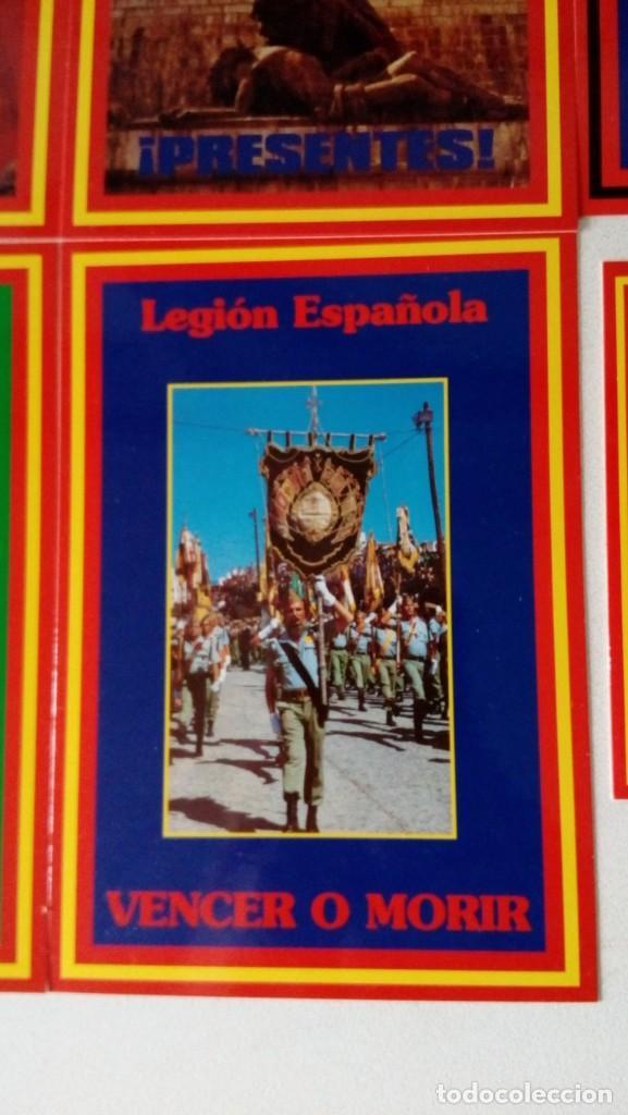 Postales: 14 postales. Franco, José Antonio, Falange, Legión, Guardia Civil, Escudo Nacional, Bandera España.. - Foto 12 - 139503686