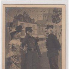 Postales: CARTA POSTAL (MILITAR) CON FECHA DE 10-11-1904 (IMPORTANTE VISITAR REVERSO). EBC. Lote 140632122