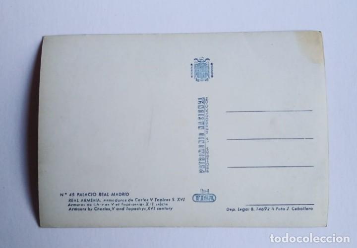 Postales: Armaduras de Carlos V. Tapices siglo XVI. Palacio real. Real armería. Madrid. Postal - Foto 3 - 140765030