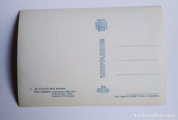 Postales: Armaduras siglo XVI. Palacio real. Real armería. Madrid. Postal - Foto 3 - 140765166