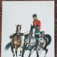 Postales: EJERCITO ESPAÑOL 1885 - REGIMIENTO DE HUSARES DE PAVIA. Lote 141292614