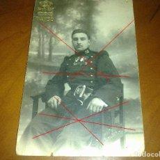 Postales: POSTAL FOTOGRÁFICA MILITAR 1919 - PARECE REGIMIENTO INFANTERÍA ALCÁNTARA Nº 58. Lote 141763874