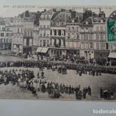 Postales: FRANCIA. GUERRA FRANCO PRUSIANA. 1871. TROPAS PRUSIANAS EN LA PLAZA DE SAINT QUENTIN.. Lote 141860034
