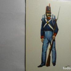 Postales: POSTAL AÑO 1812-ESPAÑA REGIMIENTO REY 1. Lote 143821606