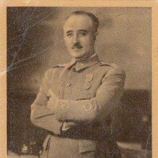 Postales: TARJETA POSTAL: S.E. EL GENERALISIMO FRANCO / JALON ANGEL - ZARAGOZA. Lote 144221066