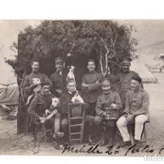 Postales: GUERRA DEL RIF. POSTAL FOTOGRÁFICA.- GRUPO DE OFICIALES EN MELILLA 1916. Lote 146197978