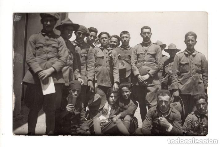 SOLDADOS DEL CUERPO DE SANIDAD MILITAR.- POSTAL FOTOGRÁFICA (Postales - Postales Temáticas - Militares)