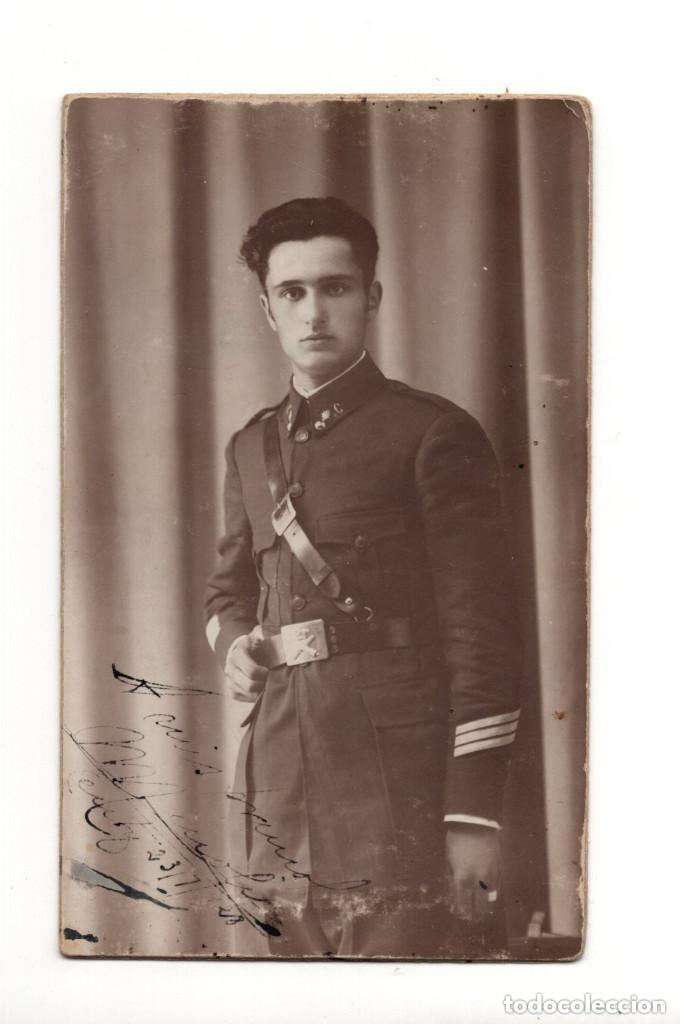 SOLDADO DE ARTILLERÍA 1928.- POSTAL FOTOGRÁFICA (Postales - Postales Temáticas - Militares)