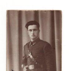 Postales: SOLDADO DE ARTILLERÍA 1928.- POSTAL FOTOGRÁFICA. Lote 146224114