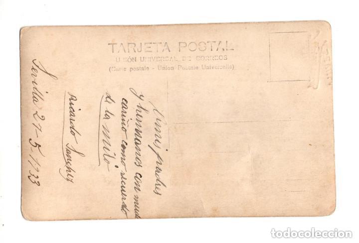 Postales: SEVILLA.- 1933. SOLDADO DE ARTILLERÍA. POSTAL FOTOGRÁFICA. - Foto 2 - 146224466