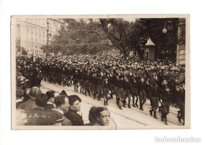 BALILLA ITALIANO A GENOVA 1926. POSTAL FOTOGRÁFICA. ARREGLADA (Postales - Postales Temáticas - Militares)