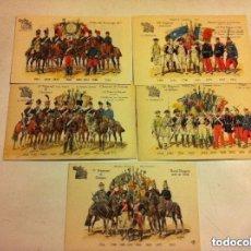 Postales: POSTALES EJÉRCITO FRANCÉS,ESCENAS DESDE 1724 A 1914- LOTE DE 20 - SIN CIRCULAR. Lote 146683030