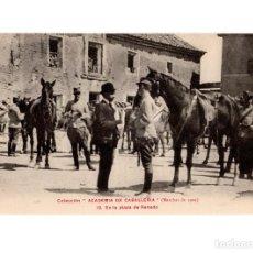 Postales: COLECCIÓN ACADEMIA DE CABALLERÍA.-MARCHAS DE 1909.- EN LA PLAZA DE RENEDO. Lote 146787698
