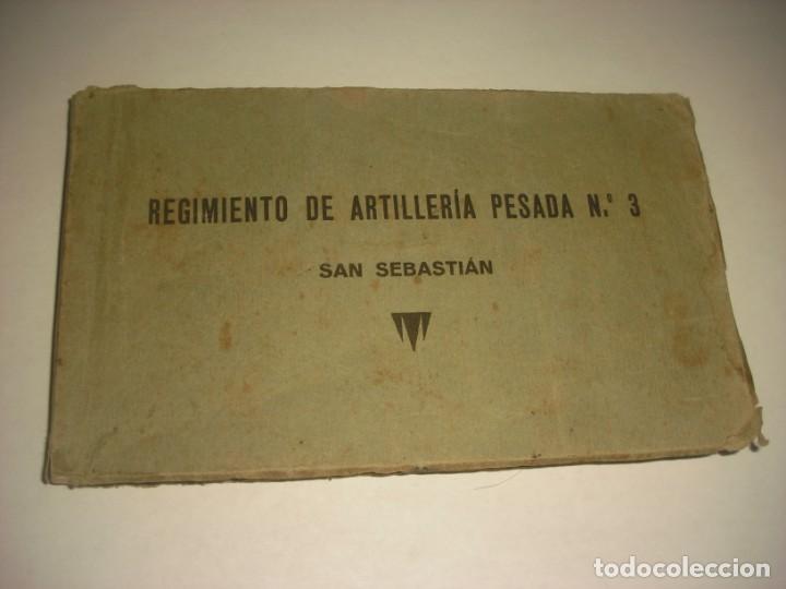 REGIMIENTO DE ARTILLERIA PESADA Nº 3 , SAN SEBASTIAN . 24 POSTALES. (Postales - Postales Temáticas - Militares)