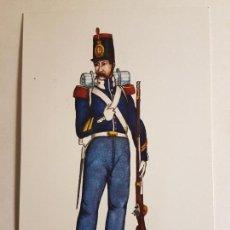 Postales: POSTAL REGIMIENTO DEL REY NUM. I AÑO 1846 ESPAÑA ILUSTRADOR CARLO. Lote 147904878