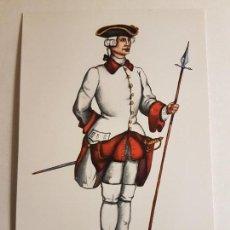 Postales: POSTAL REGIMIENTO DEL REY NUM. I AÑO 1761 ESPAÑA ILUSTRADOR CARLO. Lote 147905154